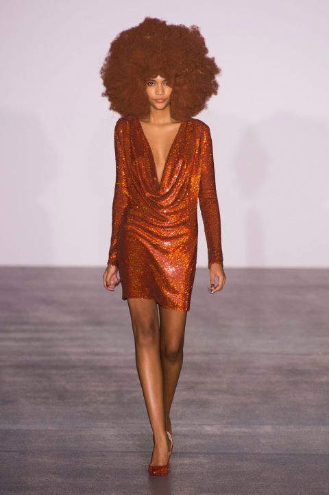All the Looks From the Ashish Fall 2016 Ready-to-Wear Show | Voluminous hair anyone!!!