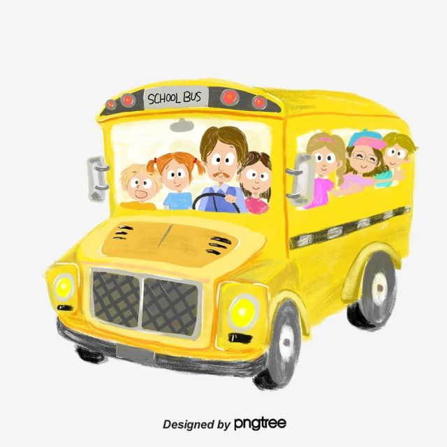 Yellow Transportation School Bus Vehicle Children Driver Png Transparent Clipart Image And Psd File For Free Download School Bus Yellow School Bus School