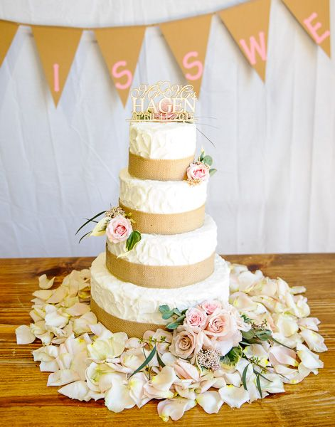 Blush Petals And Florals On Calavera Cakery Cake Designed By Labellablooms