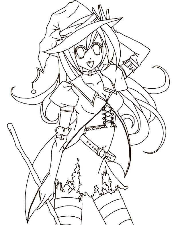 Pin By Coloringsky On Anime Coloring Pages Anime Halloween Halloween Coloring Pages Halloween Coloring