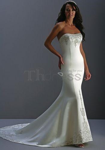 Flores casuales vestidos de novia strapless 2012 baratos