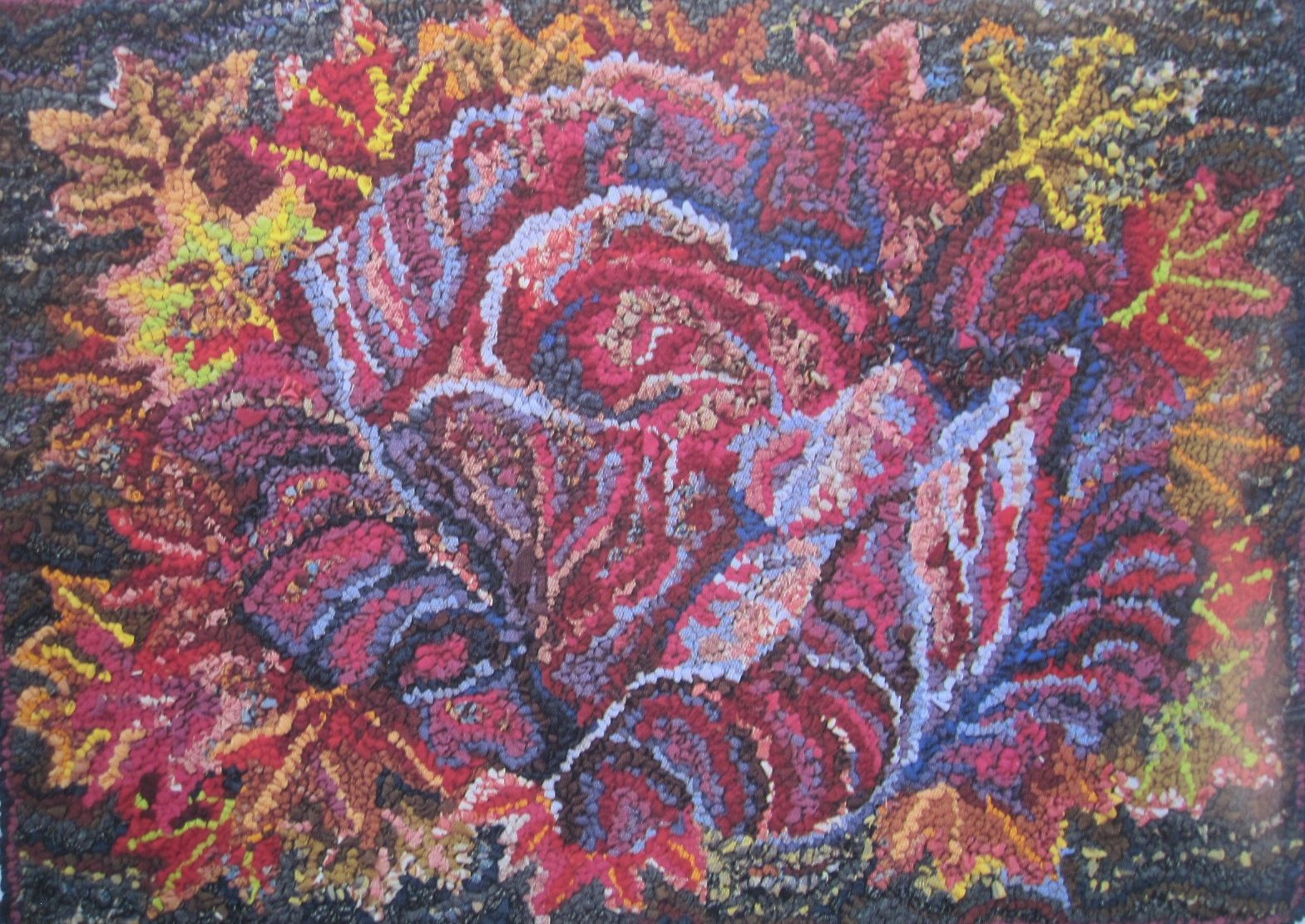 Free Rug Hooking Designs | love to look and LOOK at all of Kaffe Fassetts rag rugs and really ...