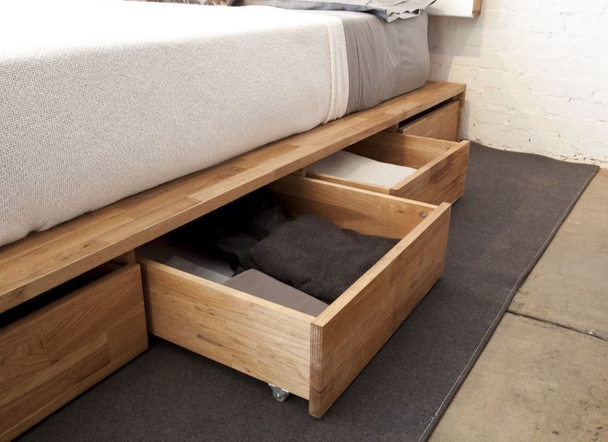 Building A Bed Frame With Drawers Underneath Bedroom Storage