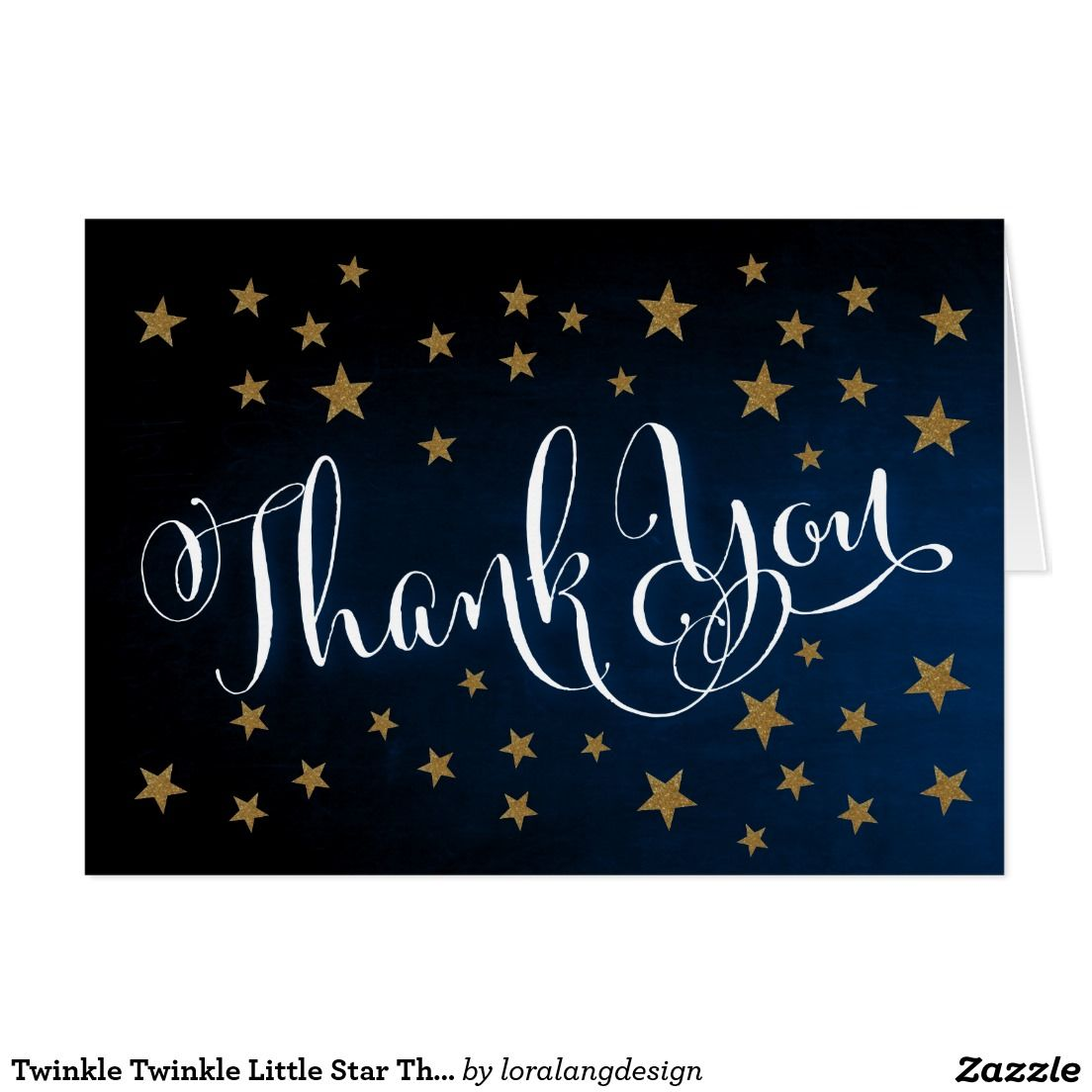Twinkle Little Star Baby Shower Thank You CardPersonalised Thank You Notes