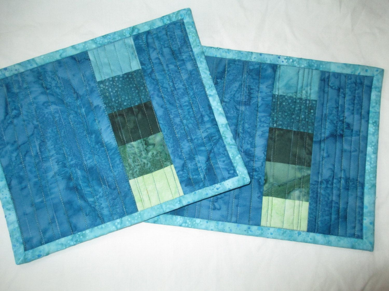 Batik Mini Place mat Mug Rug Tea Mat by Tessasquiltshop on Etsy