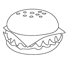 Image result for color pages in and out burgers child