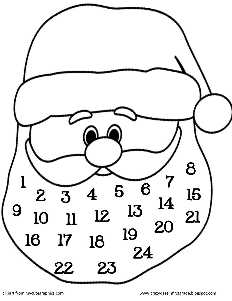 free cotton ball santa template - Google meklēšana   Merry Christmas ...