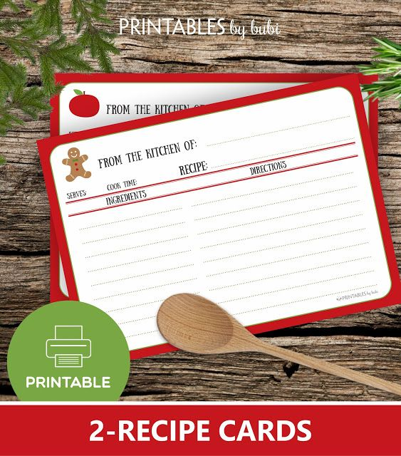 Cards by Bubi: FREE CHRISTMAS RECIPE CARD
