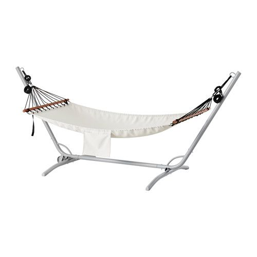 GÅRÖ / FREDÖN Riippumatto ja jalusta - harmaa/beige - IKEA