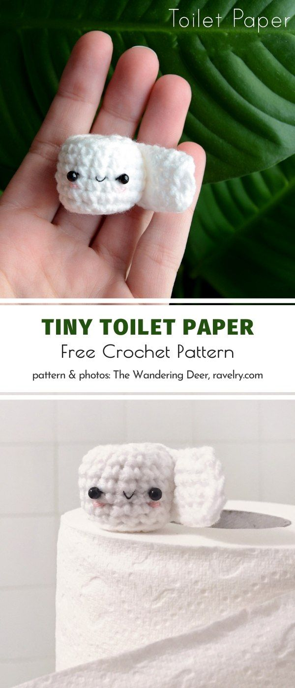 Tiny Toilet Paper Free Crochet Pattern
