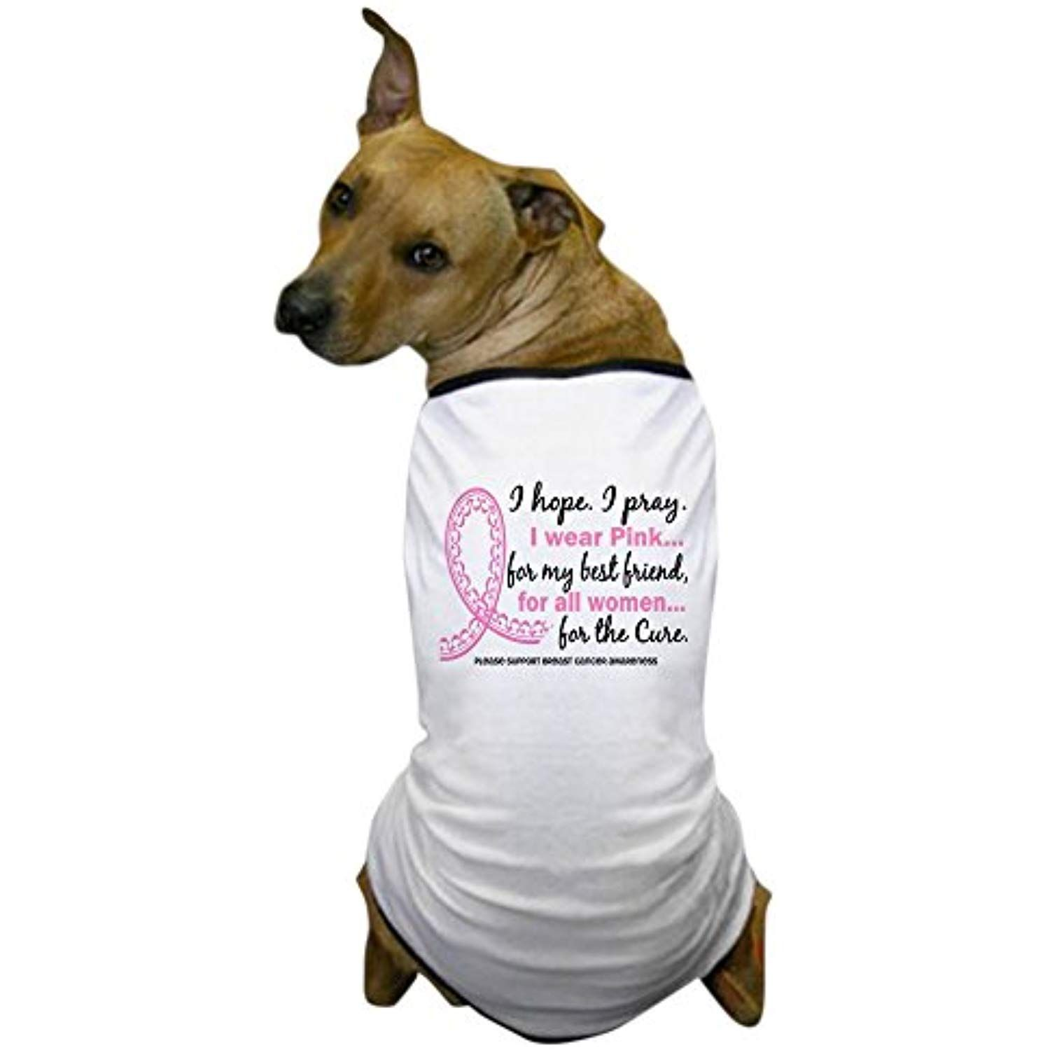da32f0ec36 CafePress - Hope Pray Wear Pink Breast Cancer Dog T-Shirt - Dog T-Shirt,  Pet Clothing, Funny Dog Costume >>> Read more at the image link.