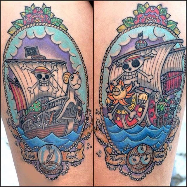 35 Awesome One Piece Tattoos For The Straw Hat Pirates!   One piece tattoos, Pieces tattoo, Tattoos