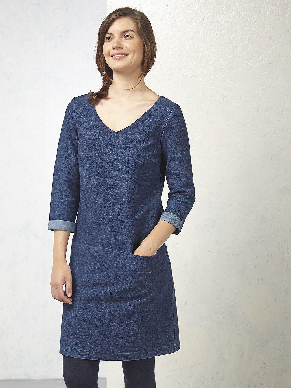 Long white jersey knit dress