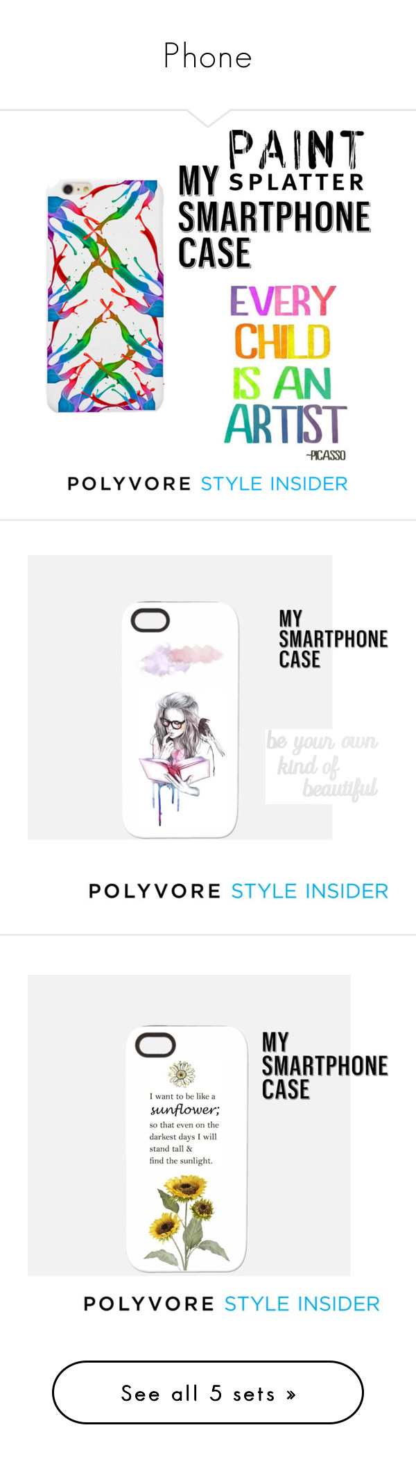 """""""Phone"""" by jasminefriesen ❤ liked on Polyvore featuring art, contestentry and PVStyleInsiderContest"""