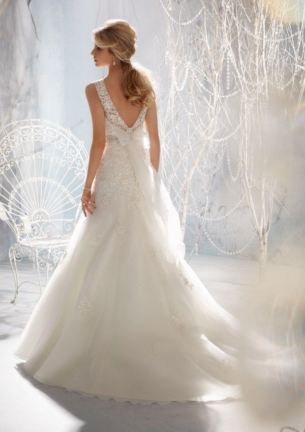 Modern Bridal Gown A Line A Line Sweep/Brush Open back Wedding Dresse-in Wedding Dresses from Apparel & Accessories on Aliexpress.com | Alibaba Group
