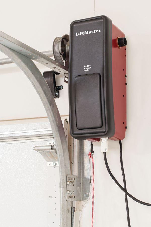This Sleek Space Saving Design Mounts On The Wall Beside Your Garage Door Freeing Up Ceiling Space This Elite Series Garage Doors Garage Design Garage Decor