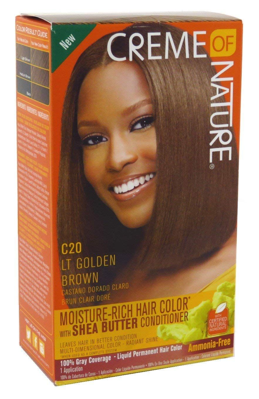 Creme Of Nature Color C20 Light Golden Brown Kit 2 Pack You Can Find Out More Details At The Link Rich Hair Color Light Golden Brown Permanent Hair Color