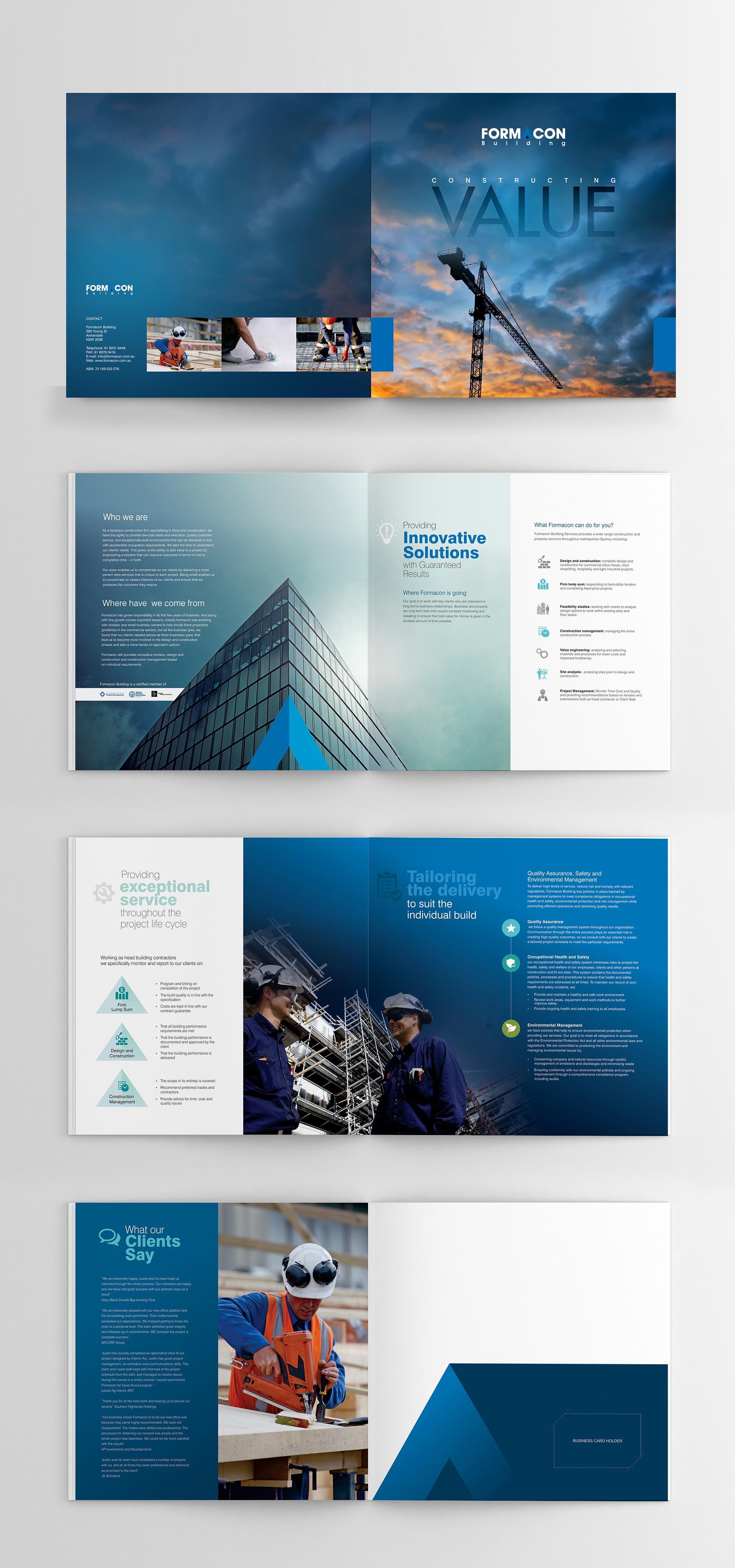 construction brochure brochure pinterest brochure design
