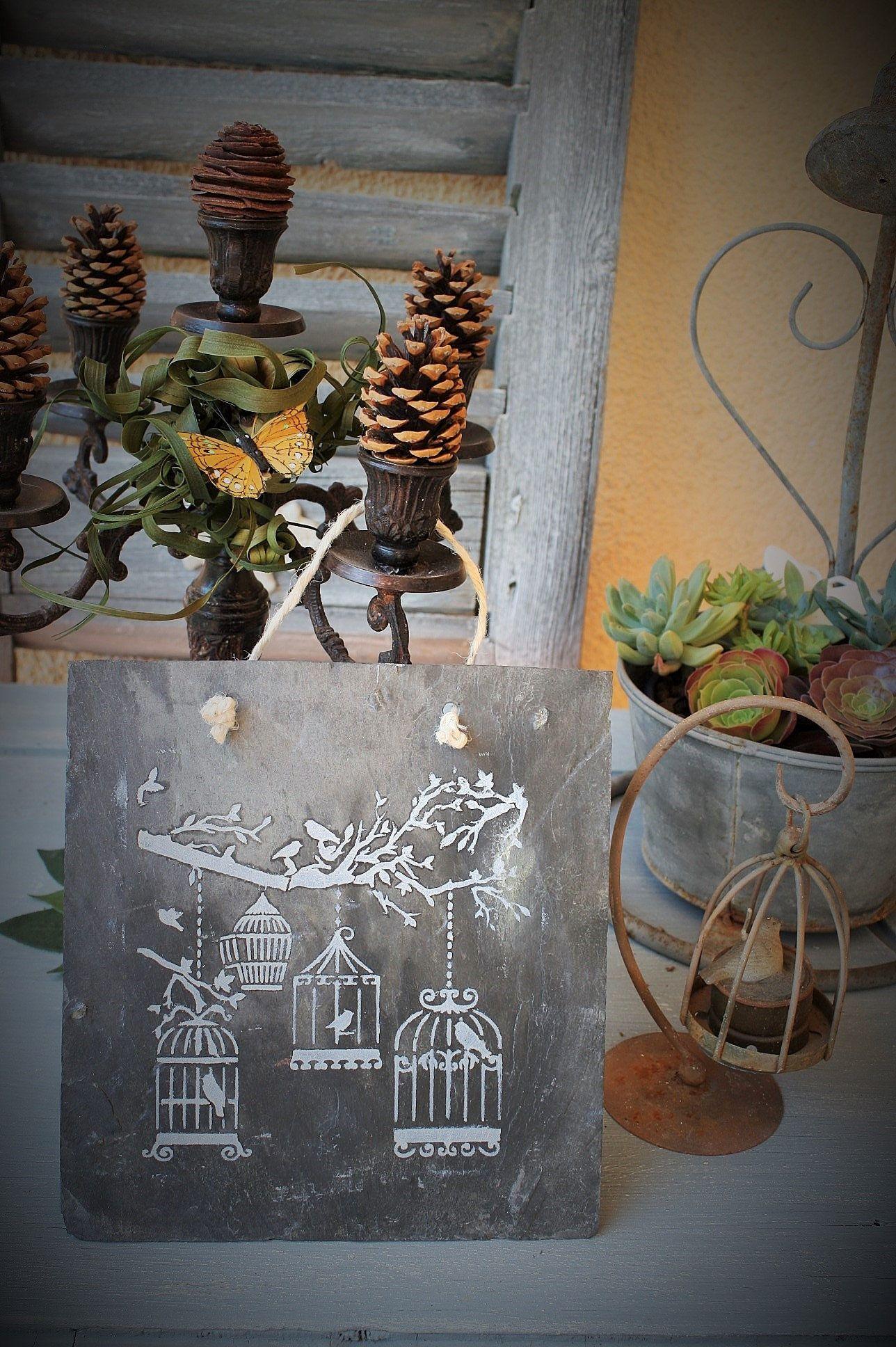 Pancarte Ardoise Ardoise Decorative Deco De Jardin Etsy Ladder Decor Home Decor Decor