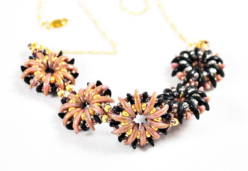 Reversible Fashion Jewelry With Czechmates Crescent Beads Beaded Jewelry Beaded Jewelry Designs Beading Patterns