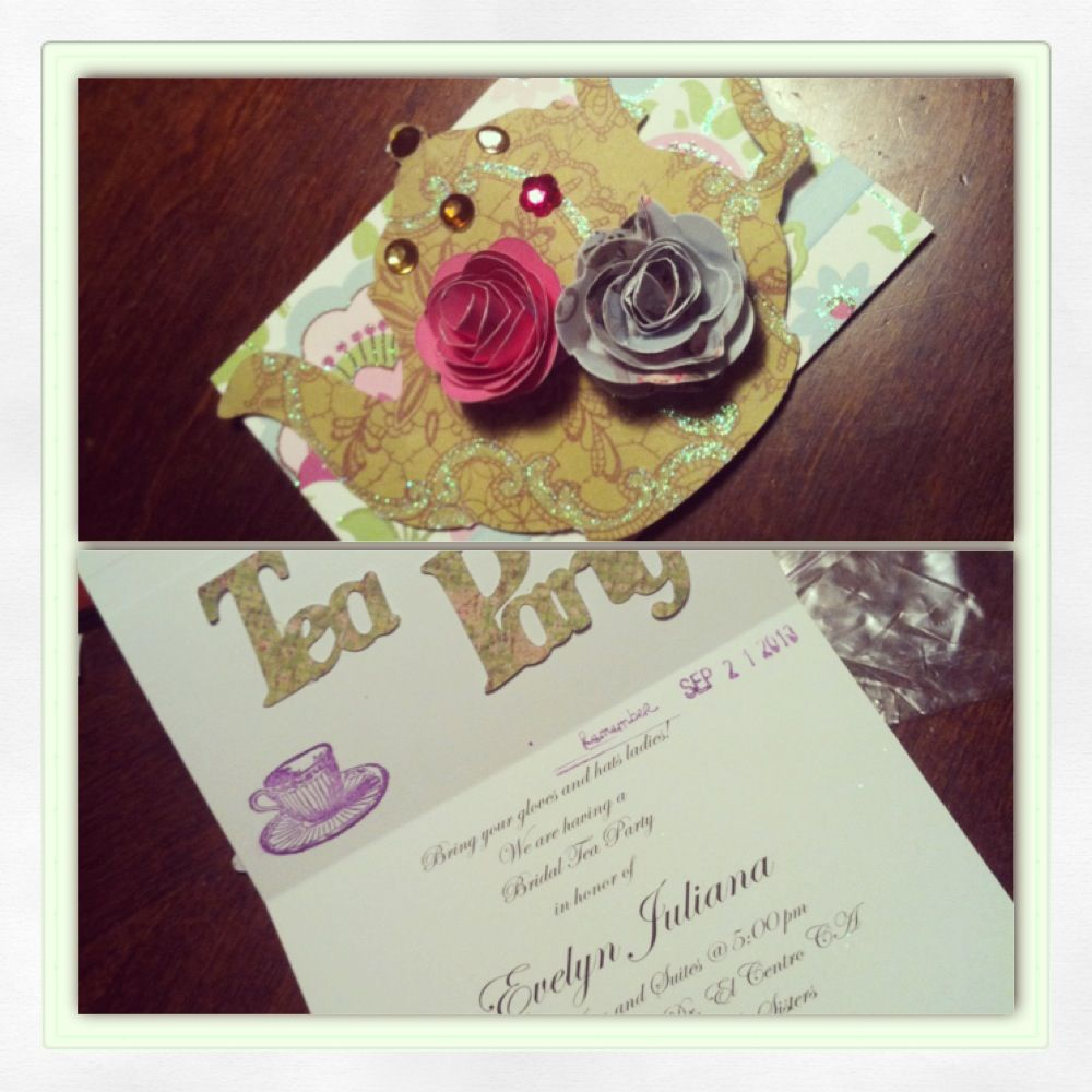Tea party invitations Michaels is perfect I got teapot stamps and ...