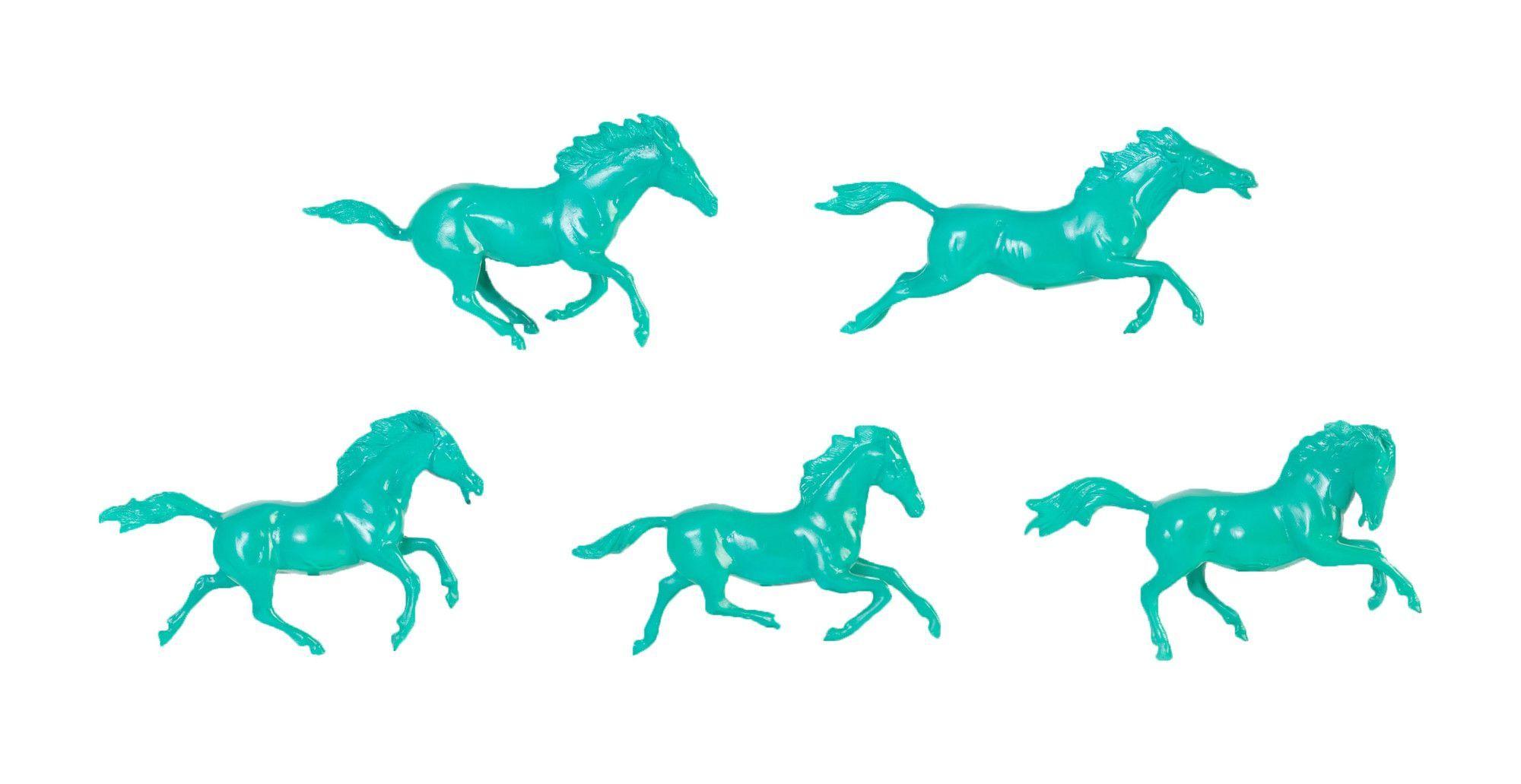5 Piece Galloping Horses Art Wall Décor Set