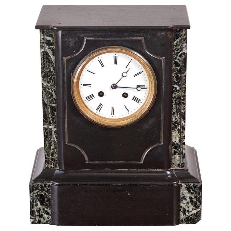 1stdibs Belgian Black Marble Marble Victorian European Mantel Clock In 2020