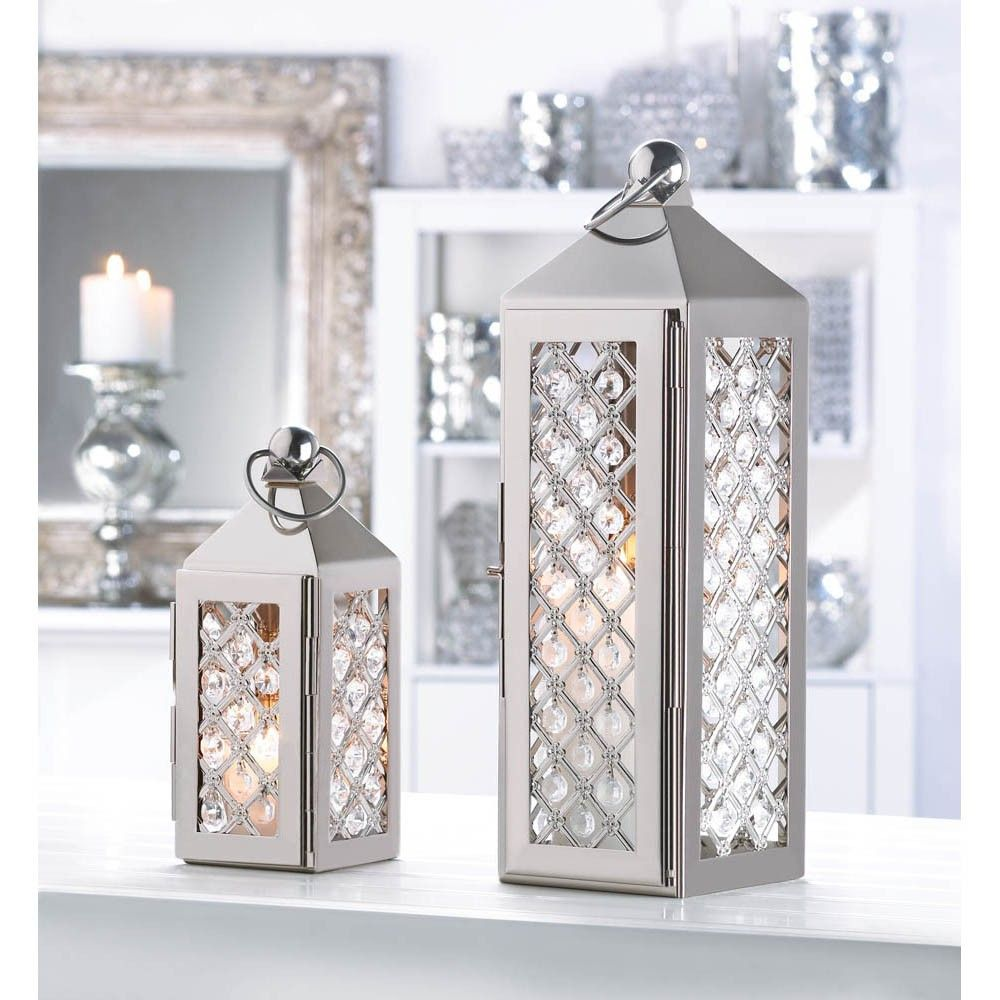 6 Dazzling Large Crystal Lanterns for wedding Centerpieces | Sparkle ...