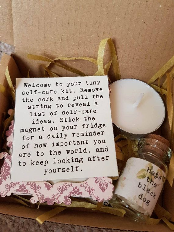 Tiny self care kit get well present thinking of you gift selfcare tiny self care kit 1 donation to mind perfect self care starter kit free uk delivery this tiny self care kit was designed as a smaller alternative to solutioingenieria Choice Image