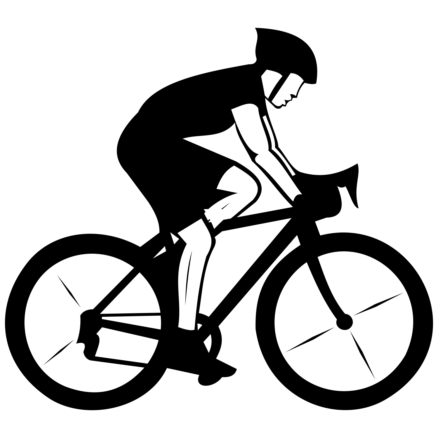 Silhouette Biking Png Google Search Bicycle Art Bicycle Cyclist