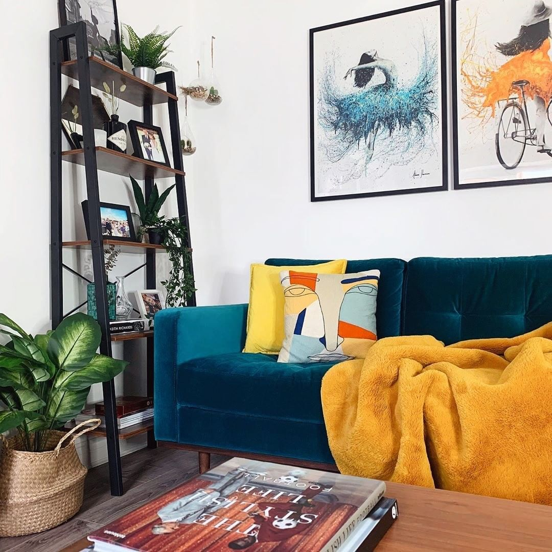 Fy On Instagram What Is The Most Colourful Corner In Your Home We Love The Way These4webbwalls Combined Mid Century Living Room Home Decor Interior