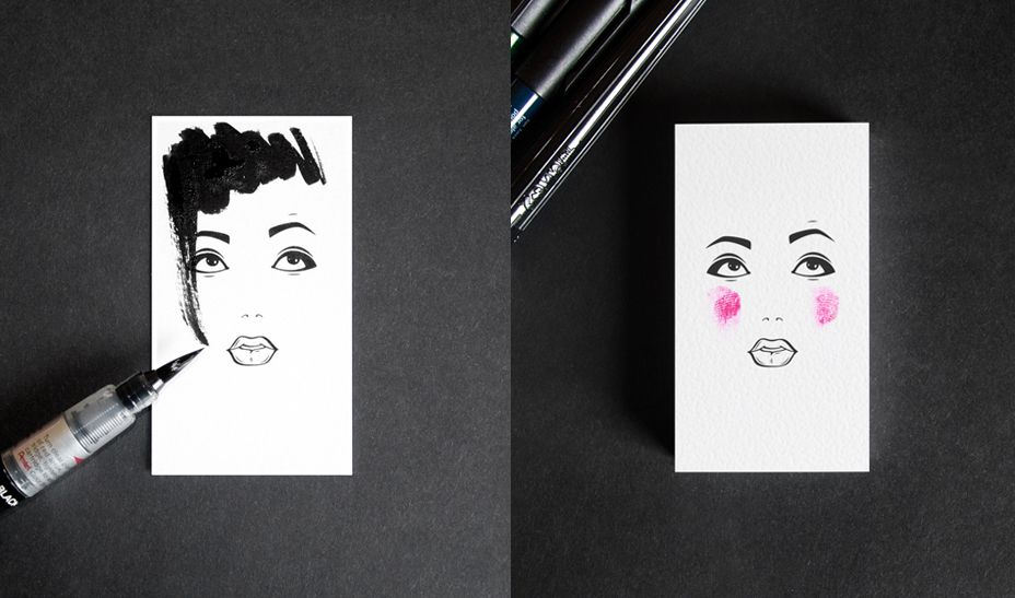 Business card for a makeup artist and hair stylist masha mashutina business card for a makeup artist and hair stylist masha mashutina is a makeup artist and reheart Choice Image