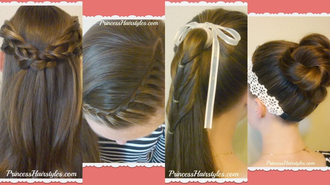 cute and easy hairstyles for school video tutorials peinados