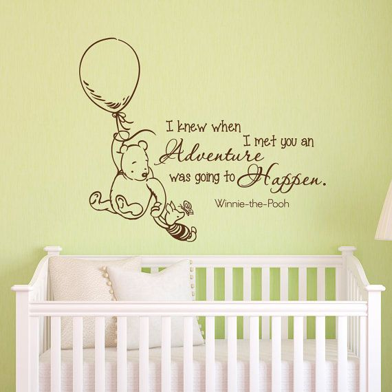 Wall Decals Quotes Classic Winnie The Pooh I Knew When I Met You