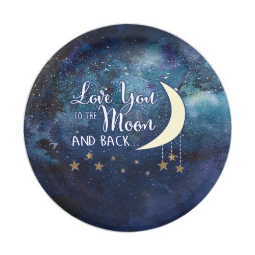 Love You to the Moon & Back Paper Plates