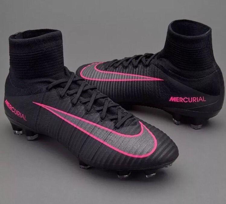 Nike Mercurial Superfly V FG Black Pink Men's 8 Soccer Cleats 831940-006 New