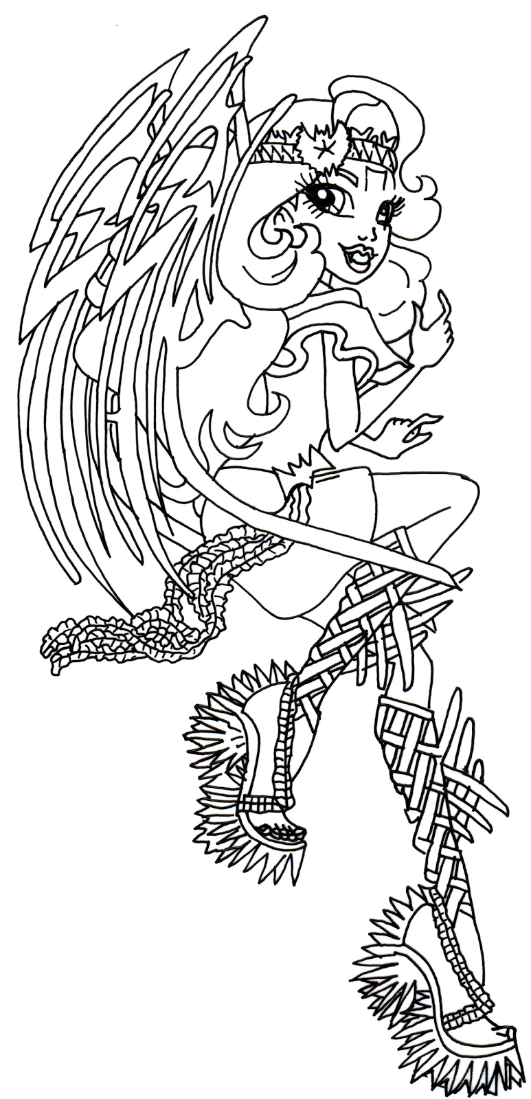 Batsy+Claro+Monster+High+Coloring+Page.png (773×1600) | Monster High ...