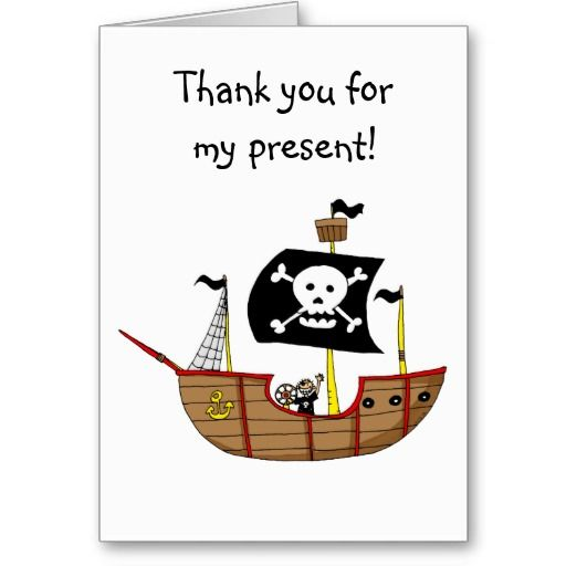Pirate Ship Thank You For My Present Pirate Photo Thank
