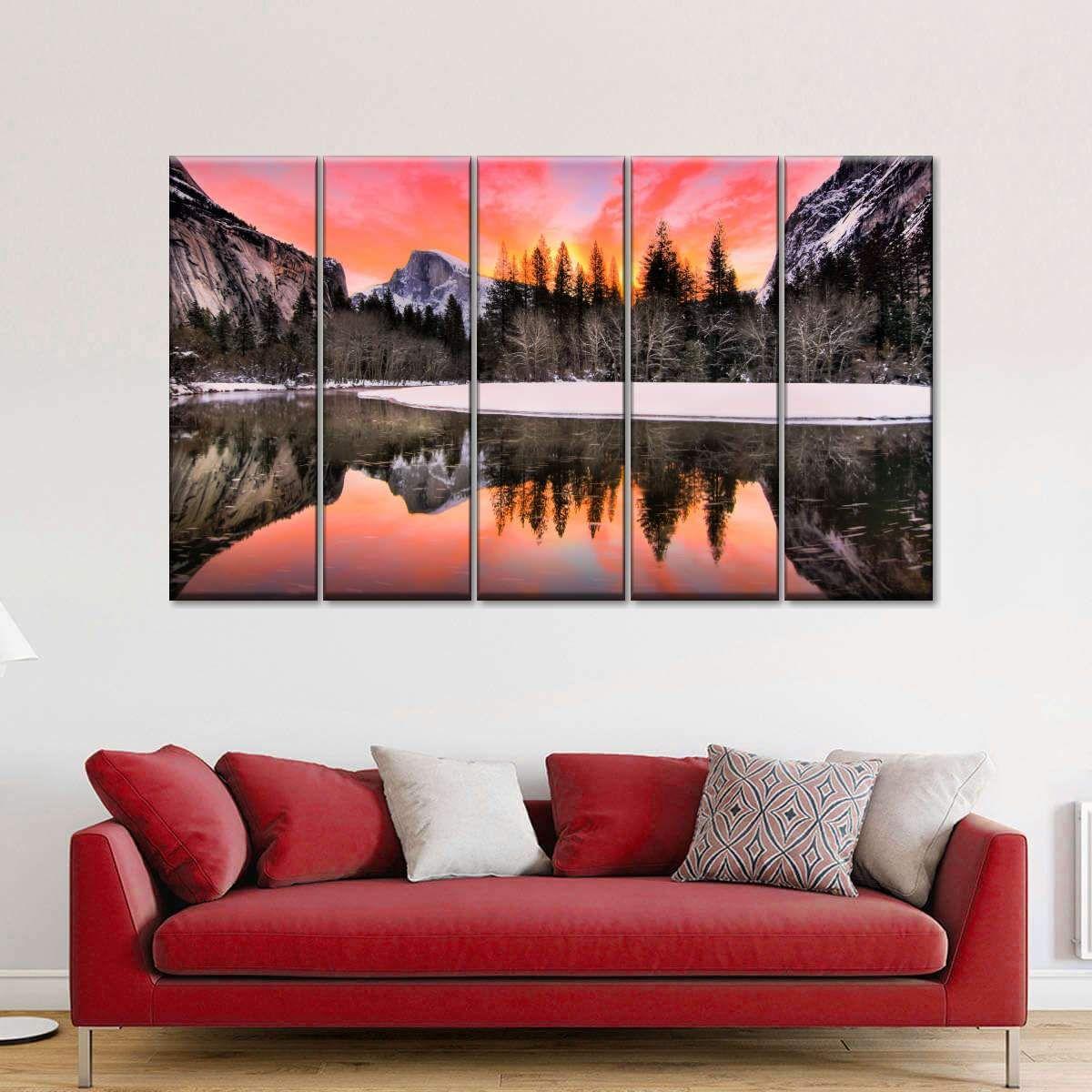 Yosemite National Park Twilight Multi Panel Canvas Wall Art In 2020 Canvas Wall Art Multi Panel Canvas Canvas Decor