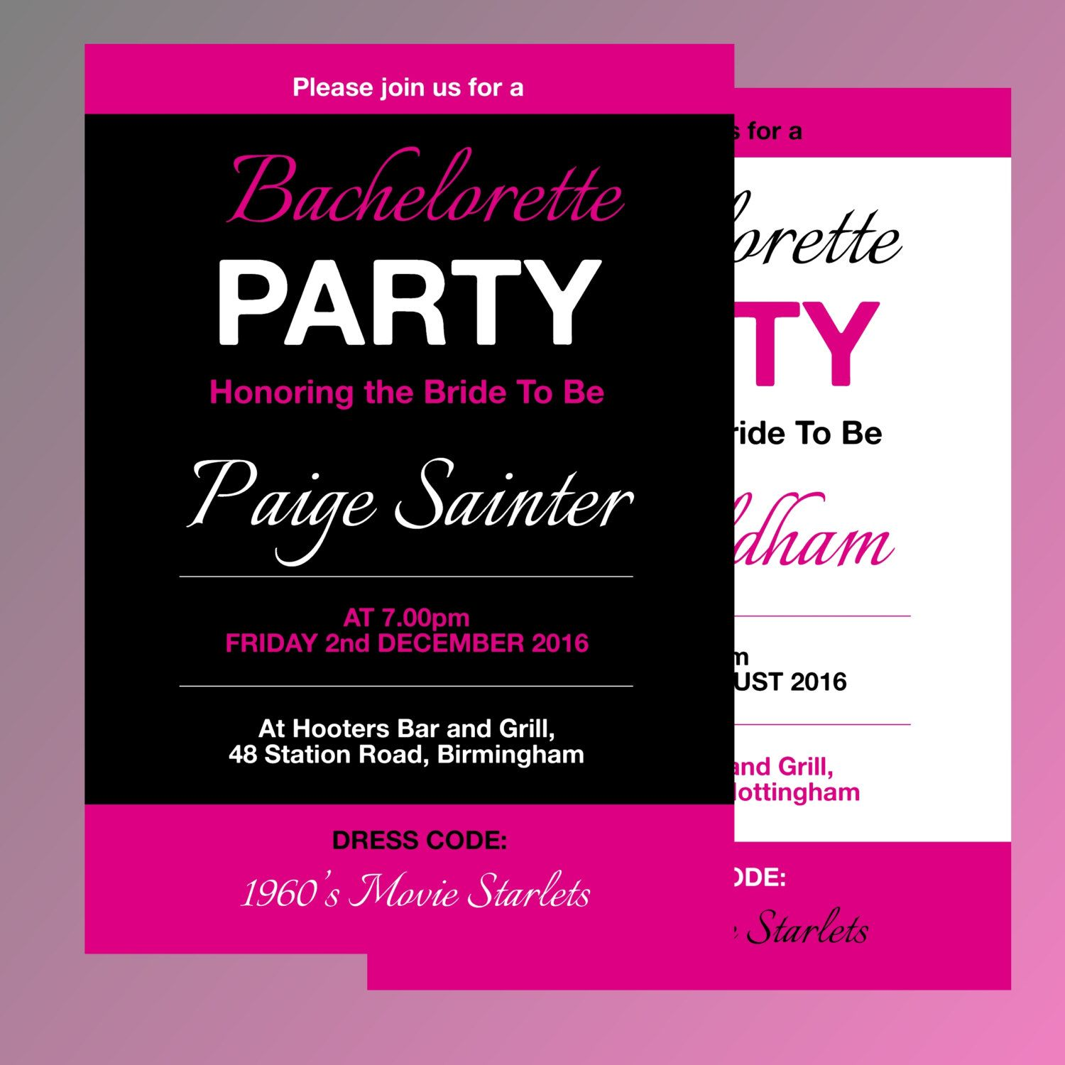 fully editable bachelorette party invitation template my creations