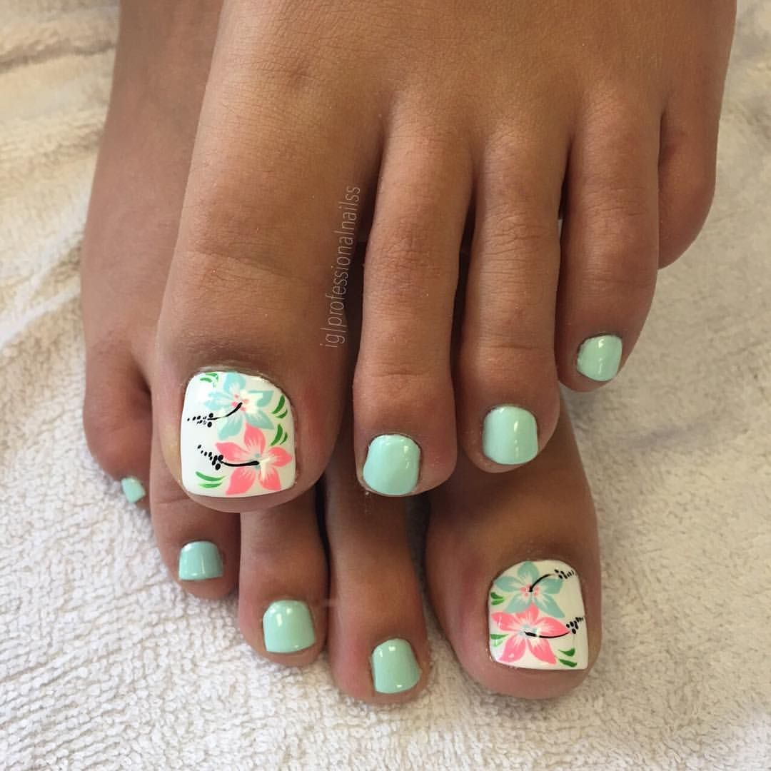 Floral Toes Needs A Dip In Water Beach Anyone Toesinthewater
