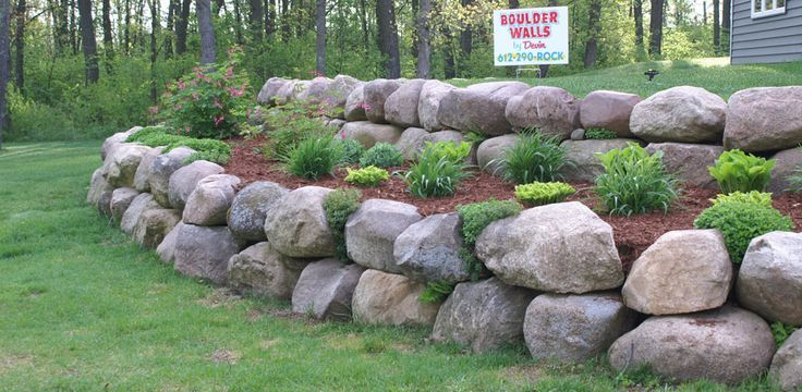 Images Boulder Retaining Walls Bing Images Ideas For My Home Rock Wall Landscape Landscaping With Rocks Boulder Retaining Wall