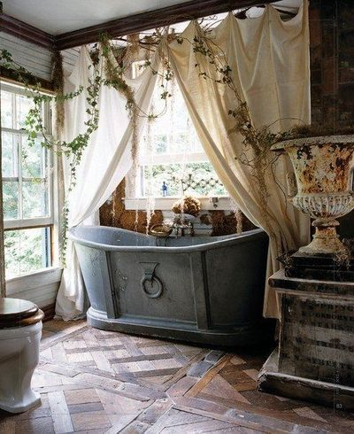 rustic, French country Bathroom❤️Ideas Pinterest Rustic