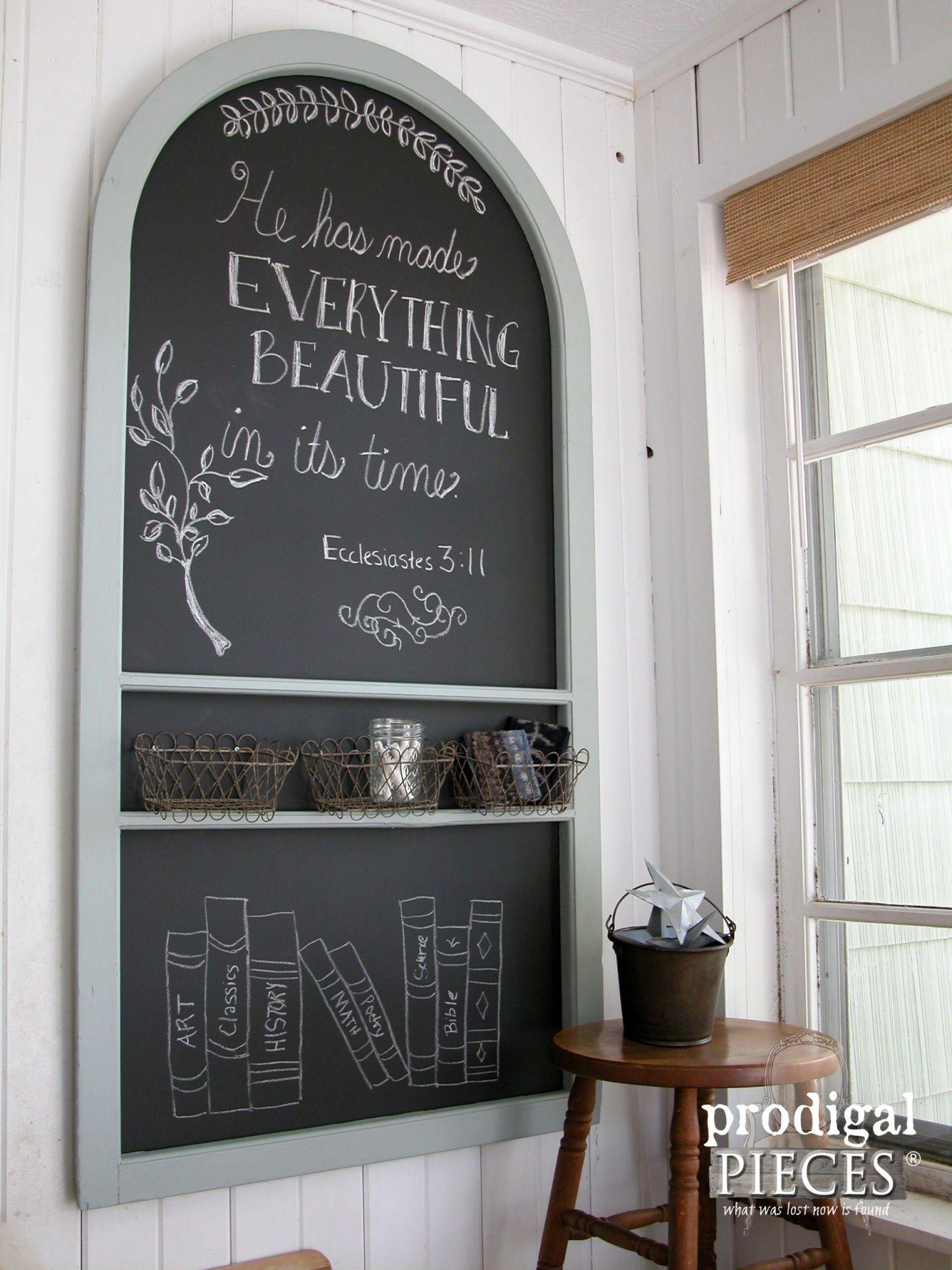 Repurposed Screen Door Chalkboard Muebles Reciclados Pizarra Y  # Muebles Pizarra
