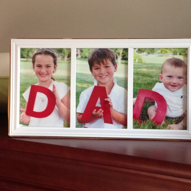 fathers day frame this cost me 15 grabbed letters and spray paint from hobby