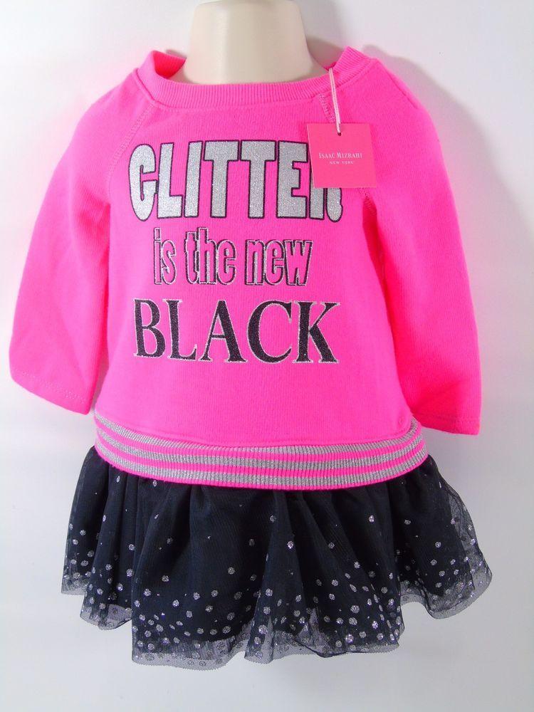 Glitter Is The New Black Isaac Mizrahi Ny Baby Girl Skater Dress