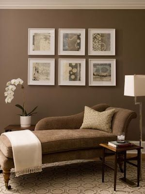 brown paint living room walls colors for open and dining decorator i love bravo phoebe howard ideas my next home dark painted designed by this color have a chase lounge similar to house could maybe do