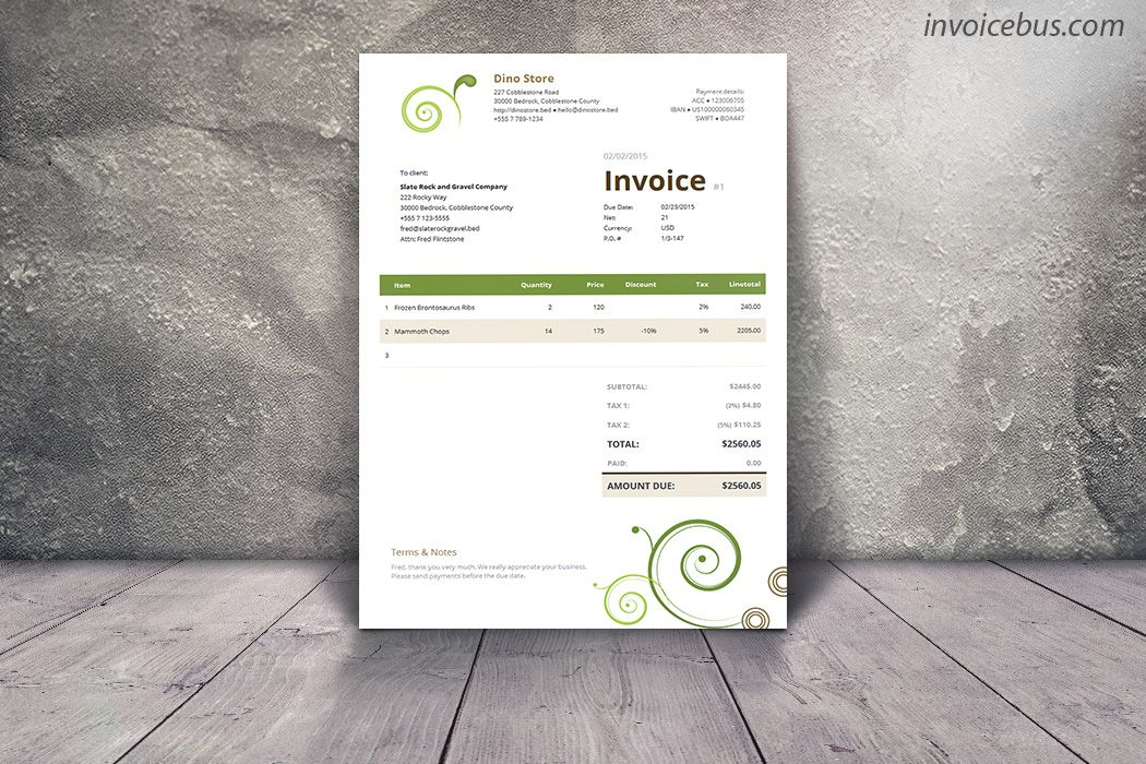 Clean Invoice Template Daisy Template - Invoice template numbers