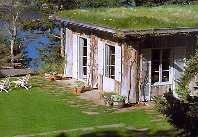 roland terry house on lopez island love the green roof and of