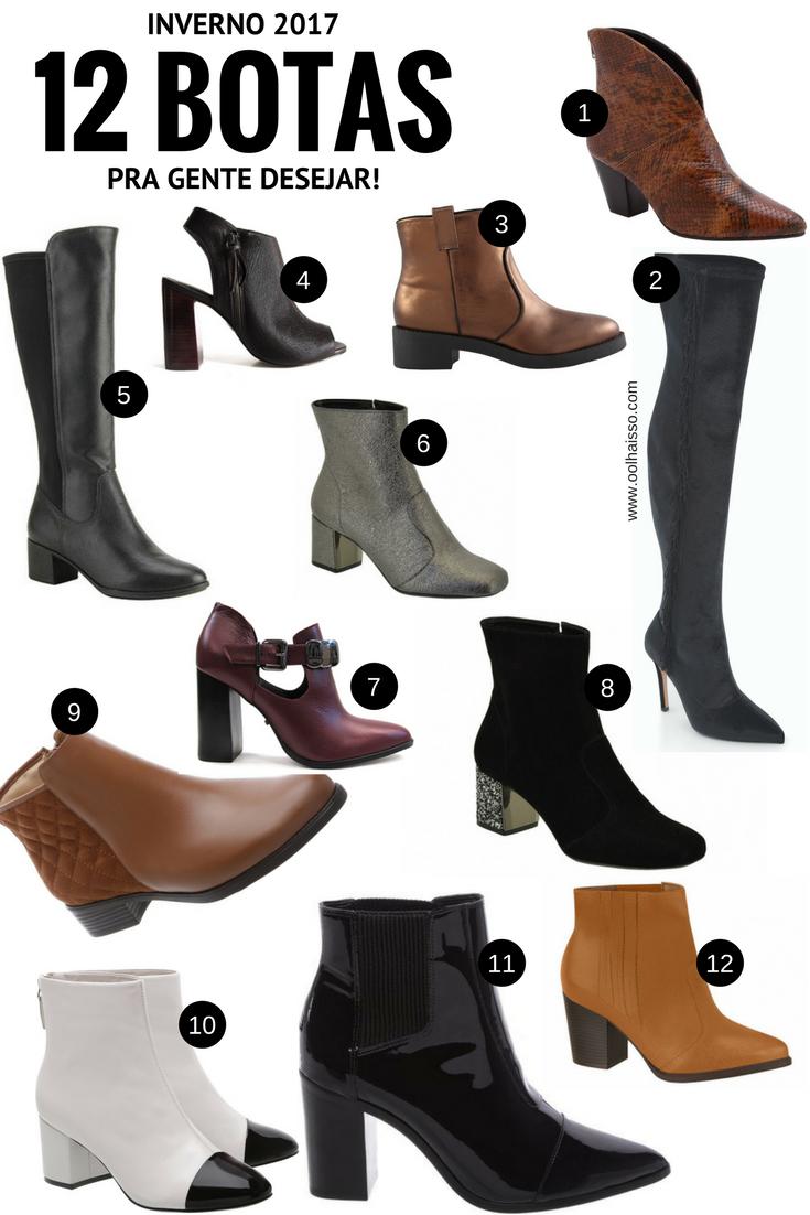 d936cadc37 12 botas para inverno 2017 - onde comprar botas. onde comprar botas de  inverno. sapatos para inverno 2017. bota de inverno.